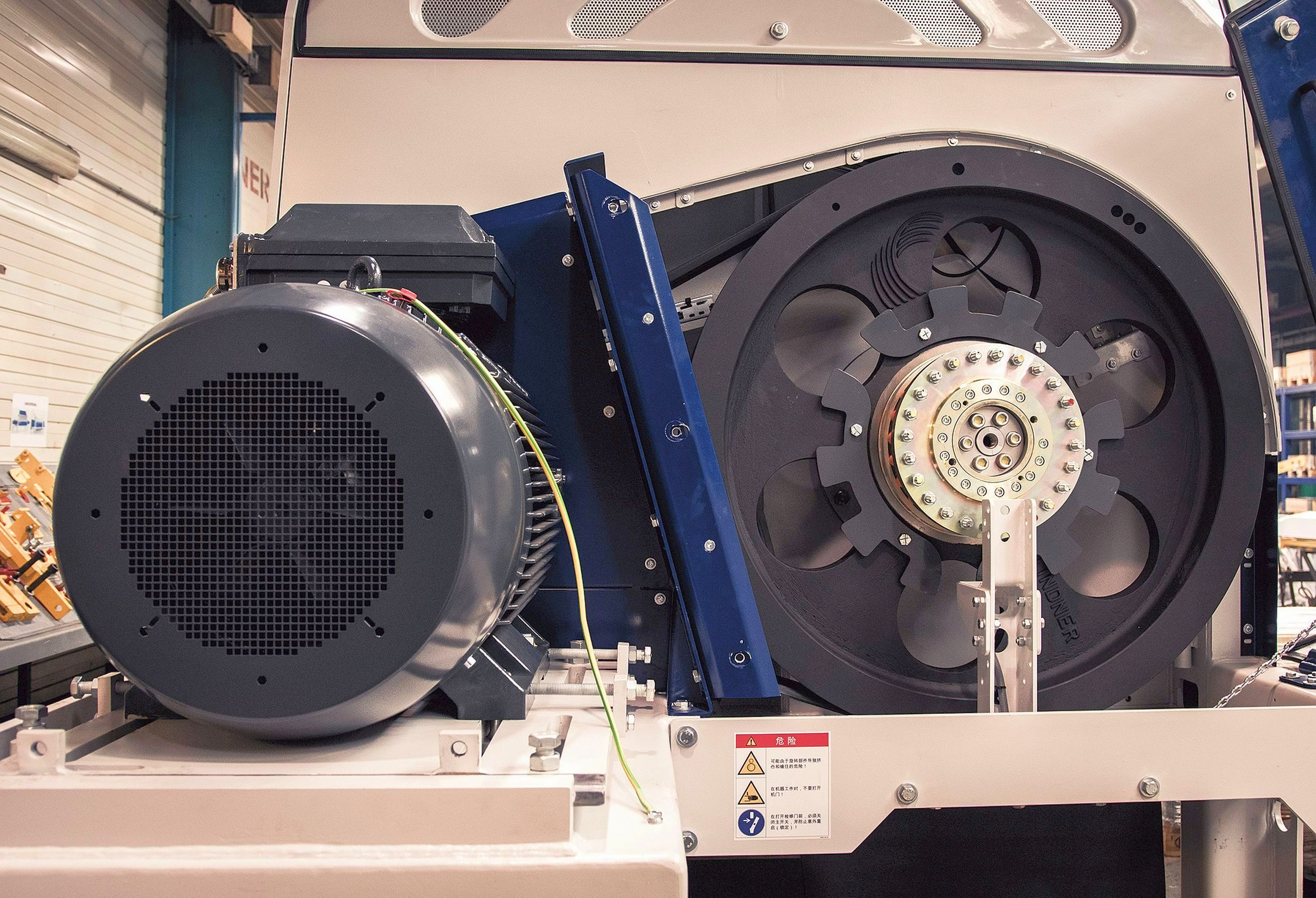 system units consisting of V-belt pulley and friction torque limiters
